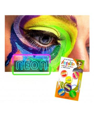 Set de Maquillaje Neón x 6 unds