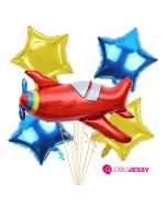 avión kit de globos