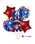 Capitán America Kit x 5 globos
