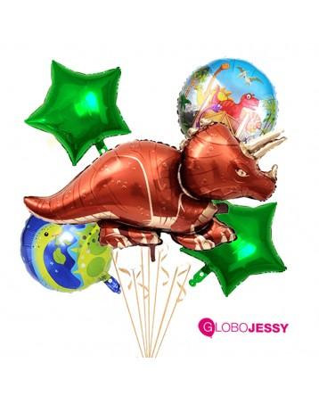 Globos Dinosaurius kit x 5 globos