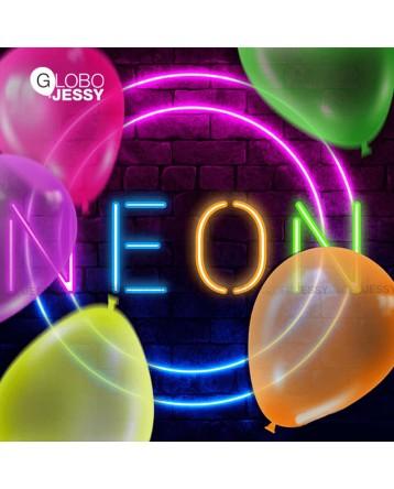 """Globo latex redondo neon 9"""""""