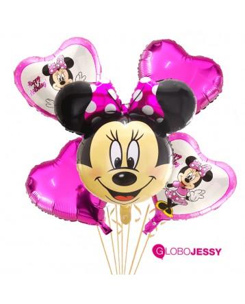 Kit de 5 globos Minnie Mouse