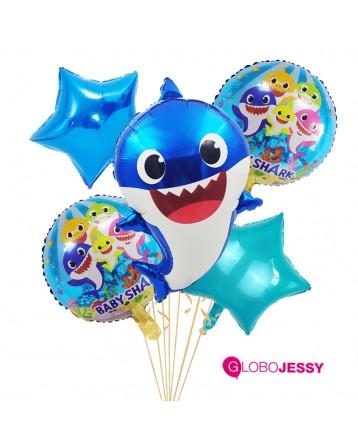 Kit  5 globos Baby Shark