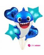 Kit  de 5 globos Baby Shark